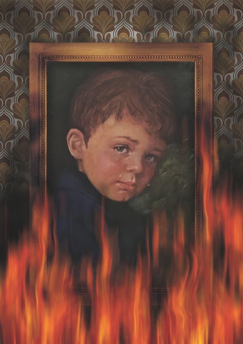 Culture Story: Cursed Crying Boy Painting fire best scary frightening urban legends scary stories to tell in the dark urban myths