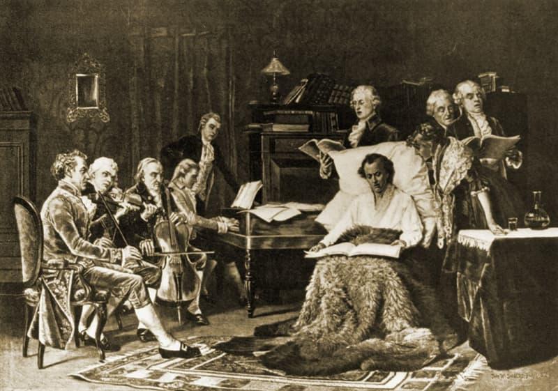 music Story: Wolfgang Mozart family - Mozart music - Wolfgang Mozart death