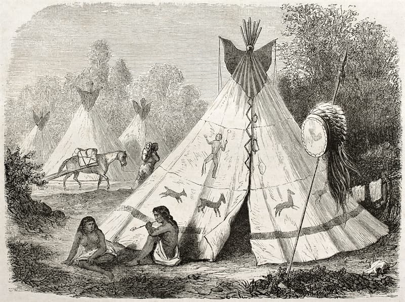 Culture Story: teepees dwellings of Native Americans facts about Native Americans tribes USA