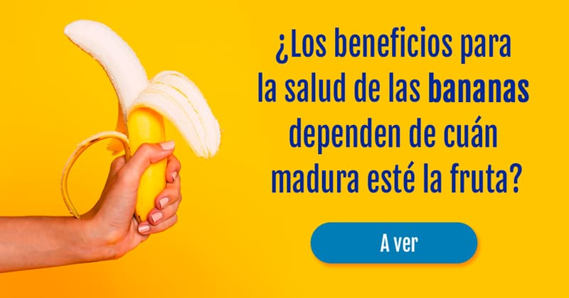 Salud Historia: ¿Los beneficios para la salud de las bananas dependen de cuán madura esté la fruta?