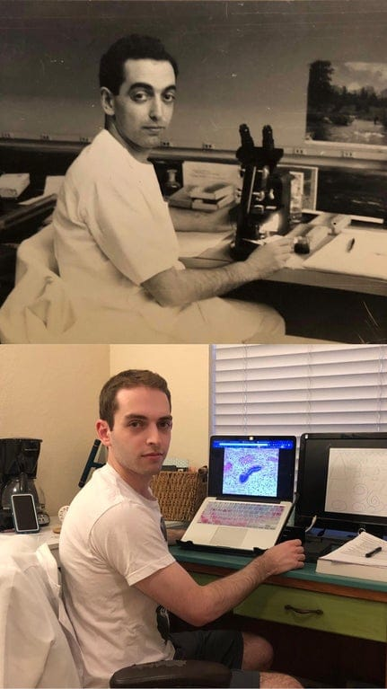 Culture Story: cool comparison pictures side by side comparison photos interesting comparison topics me and my grandpa in medical school 70 years apart