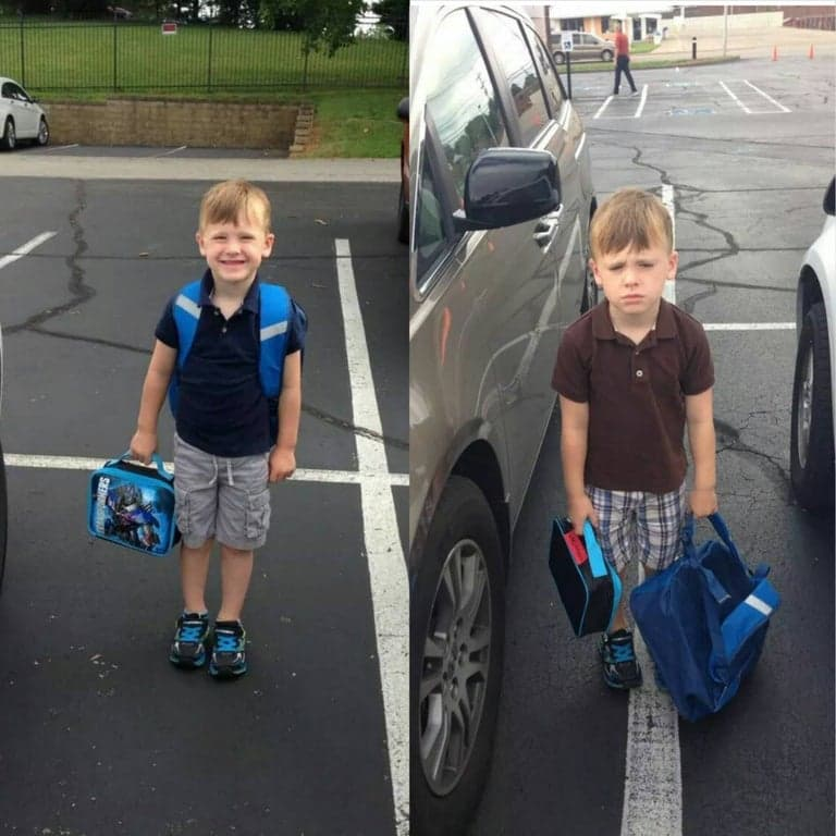 Culture Story: cool comparison pictures side by side comparison photos interesting comparison topics first day of school vs second day of school