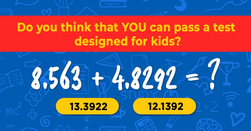 Science Story: 7 tricky math questions from grade school: 85% of adults fail!