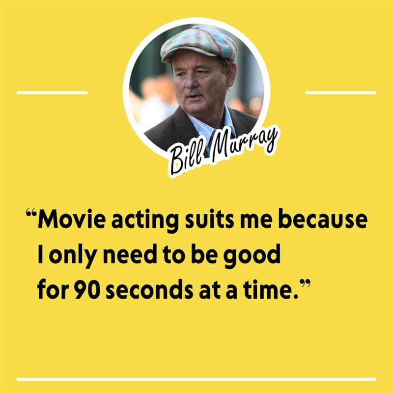 Movies & TV Story: Live like Bill Murray — his philosophy and humor