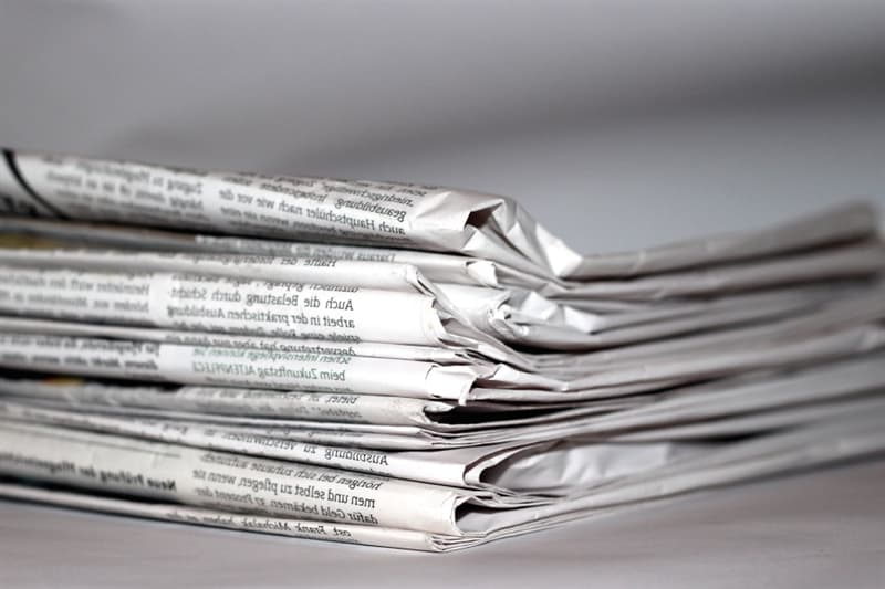 History Story: #9 Cutting things out of newspaper