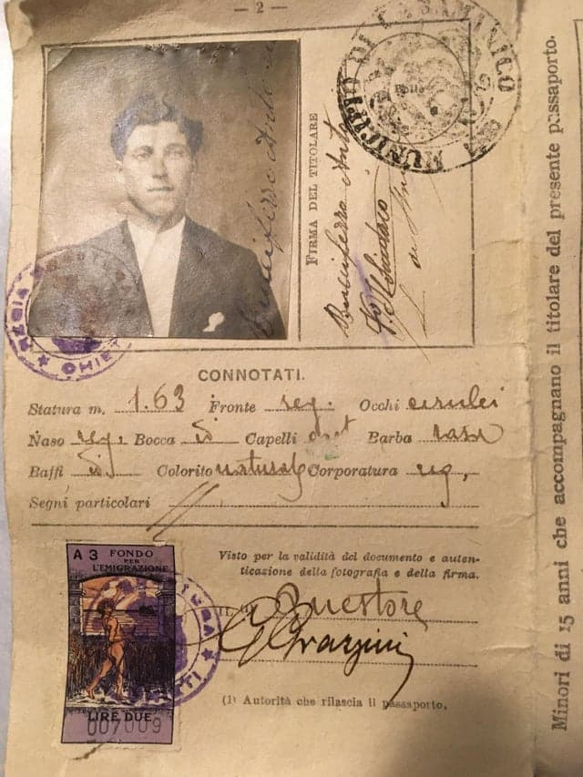 Culture Story: #10 A hundred years ago, here's what an Italian passport looked like...