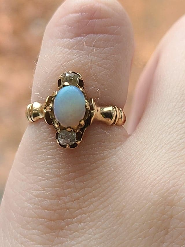 Society Story: #1 This beautiful Heirloom engagement ring passed down from my great grandmother means the world to me.