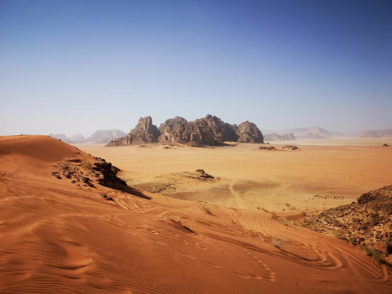 Geography Story: #10 Rocky desserts in Wadi Rum, Jordan are worth hiking.