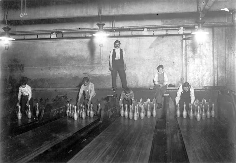 History Story: #1 Human bowling pinsetter