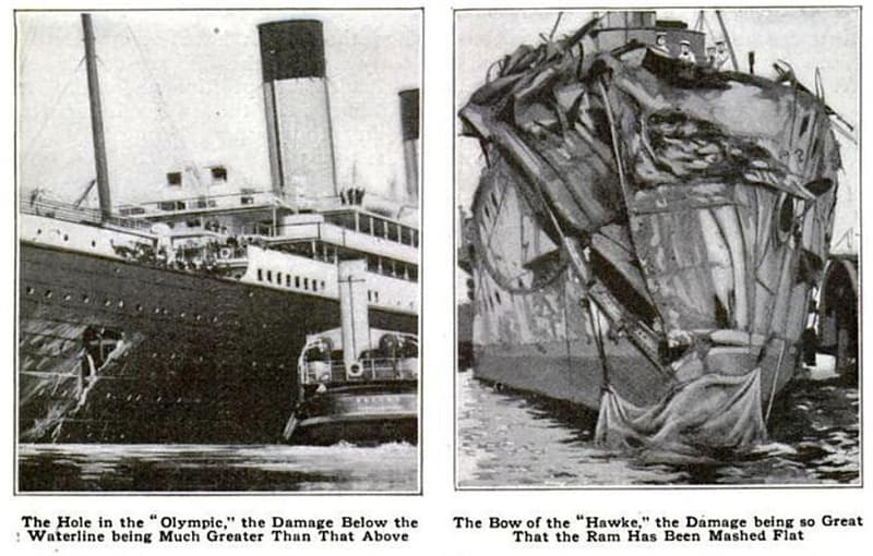 History Story: #1 The RMS Olympic collided with another ship on her first day at work
