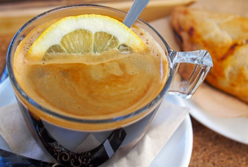 Culture Story: #2  ESPRESSO made in ITALY is put together by adding a slice of lemon