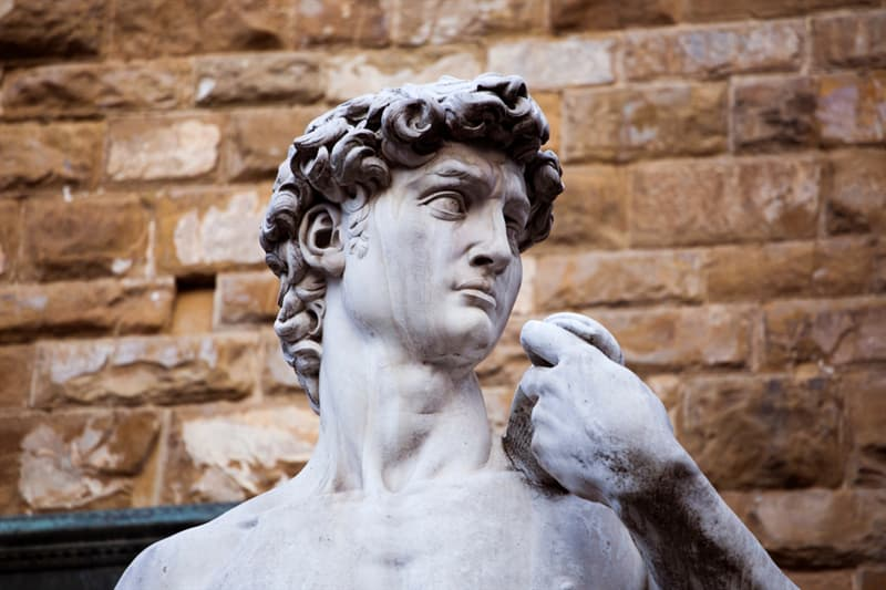 Culture Story: #1 The famous statue of David was supposed to be placed on a Florence rooftop