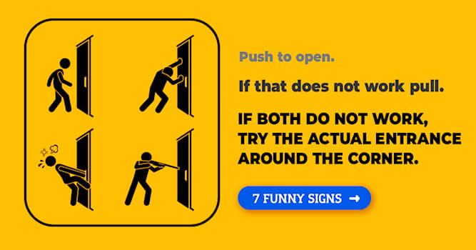 Society Story: 7 hilarious signs that will keep you laughing all day