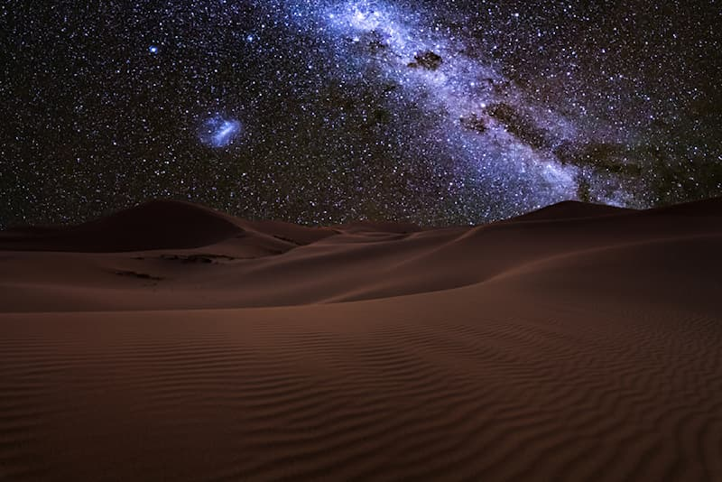 Nature Story: #6 This image of the starry sky of the Sahara desert at night just might be one of the most beautiful images ever shot