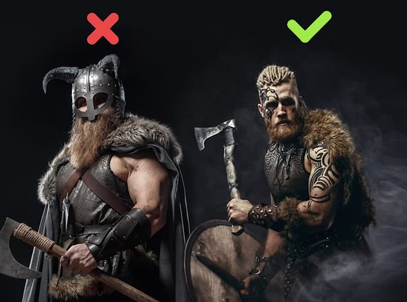 History Story: #3 Despite the common portrayal, the vikings never actually wore horned helmets