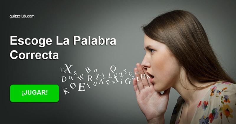 Сiencia Quiz Test: Escoge la palabra correcta