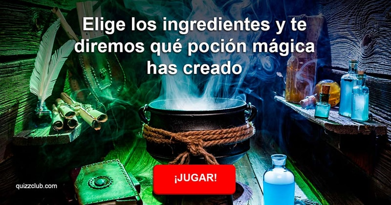Divertido Quiz Test: Elige los ingredientes y te diremos qué poción mágica has creado