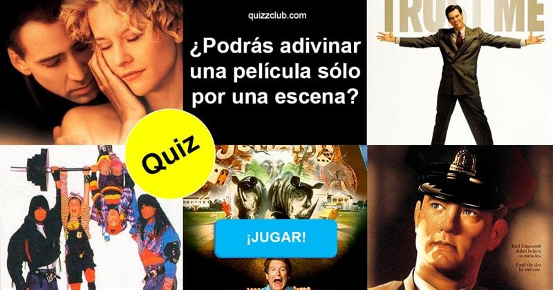 Películas Quiz Test: ¿Podrás adivinar una película sólo por una escena?