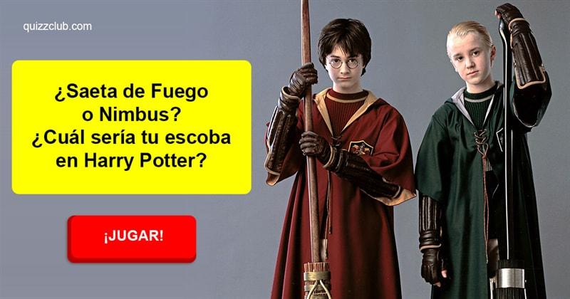 Películas Quiz Test: ¿Saeta de Fuego o Nimbus? ¿Cuál sería tu escoba en Harry Potter?