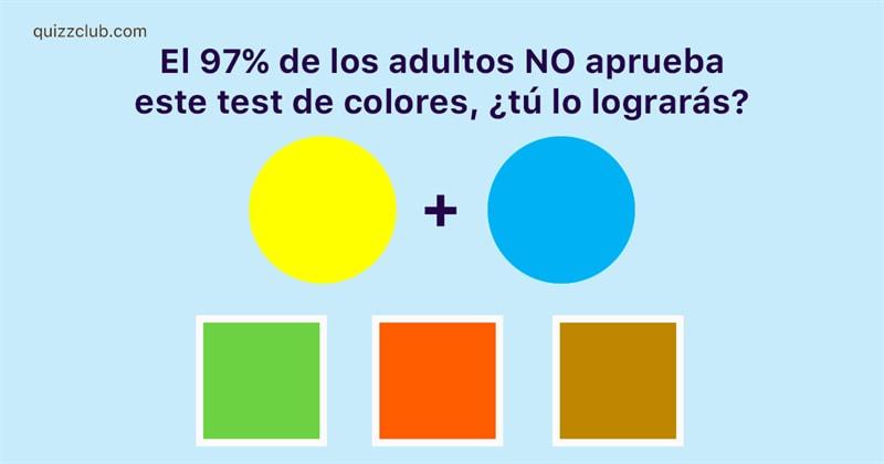 Personalidad Quiz Test: El 97% de los adultos NO aprueba este test de colores, ¿tú lo lograrás?
