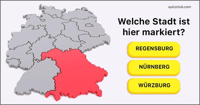 Geographie Quiz-Test: Welche Stadt ist hier markiert?
