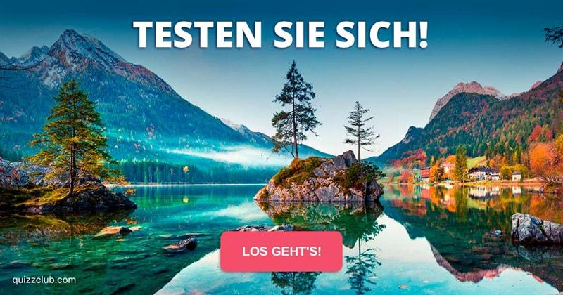 Geographie Quiz-Test: Wie viele dieser 17 Fragen über Deutschlands Naturwunder beantworten Sie richtig?