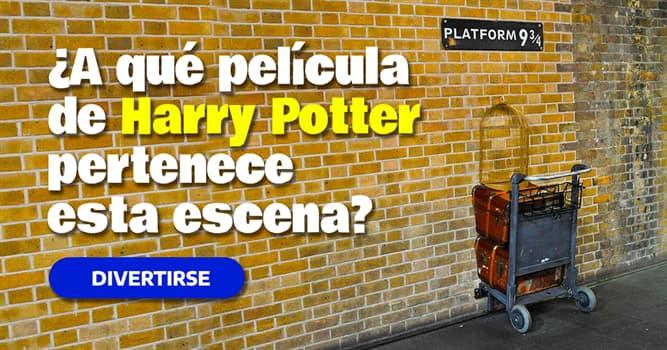 Películas Quiz Test: ¿A qué película de Harry Potter pertenece esta escena?