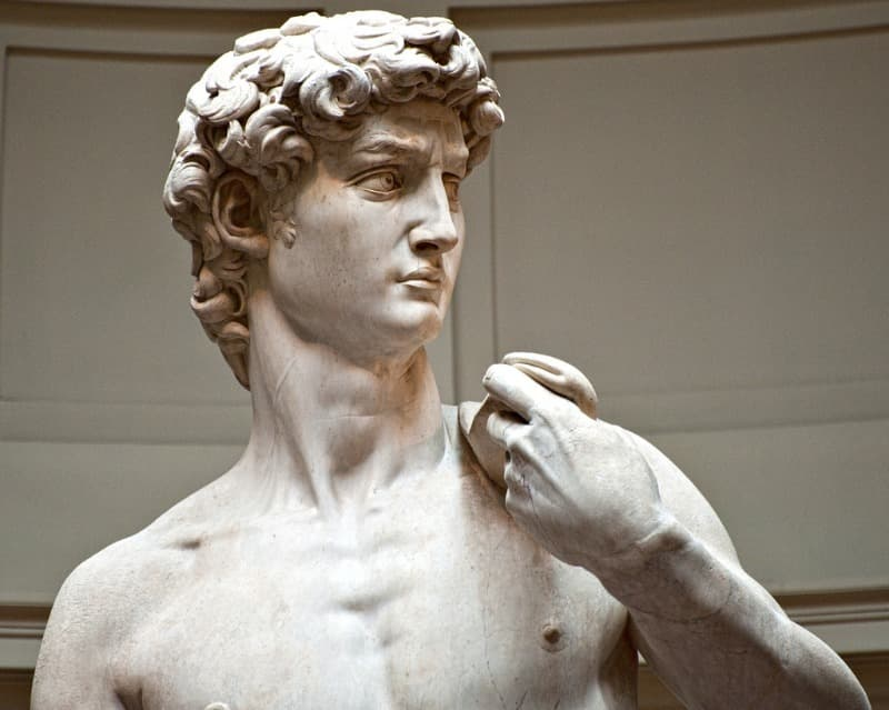 Culture Trivia Question: Who sculpted the statue David located in Florence?
