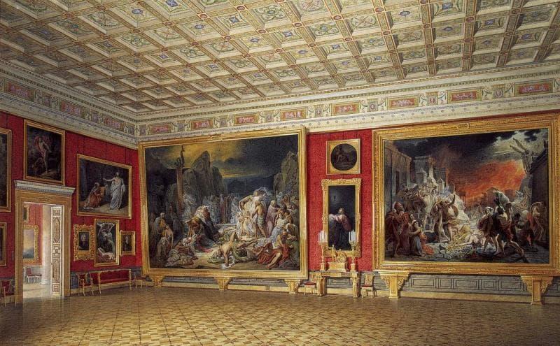 Культура Вопрос: Какая картина является самой большой по размеру в русской исторической живописи, и одновременно самой крупной в собрании Государственного русского музея?