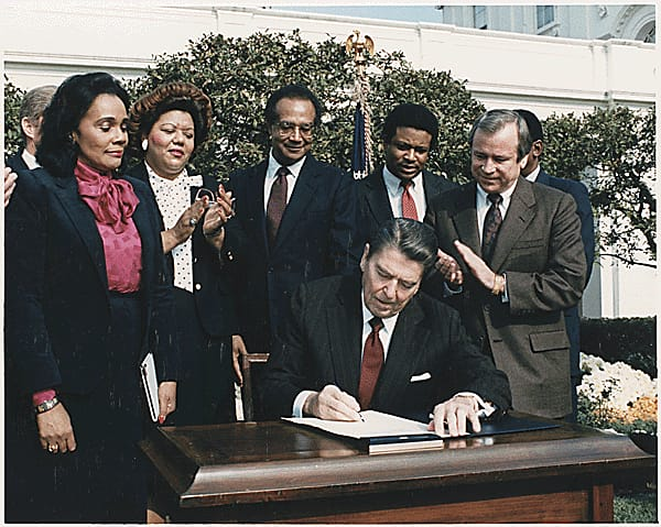 Society Trivia Question: What day was Dr. Martin Luther King, Jr. National Holiday Law signed by President Ronald Reagan?