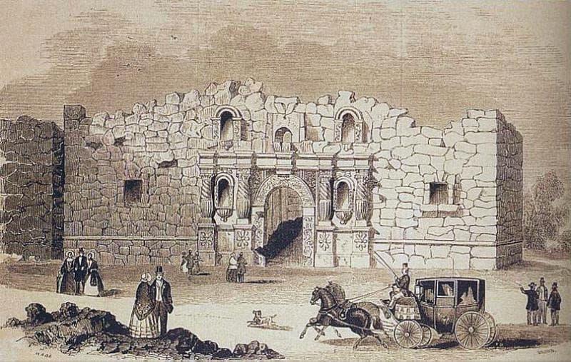История Вопрос: Рядом с каким городом в Техасе в 1836 году произошла битва за Аламо?