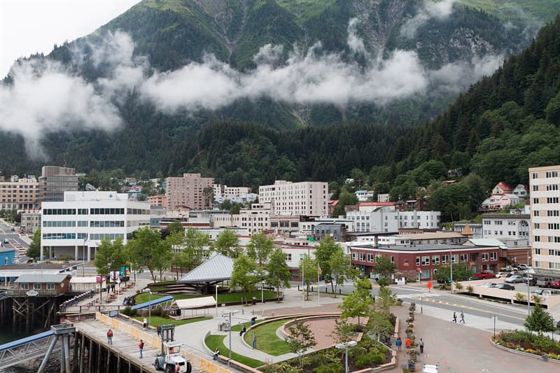 Geography Trivia Question: The municipality of Juneau, location of Alaska's state capital, covers a larger area than two other entire US states combined.