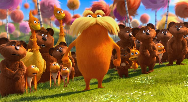 Movies & TV Trivia Question: Who did the voice of The Lorax (2012)?