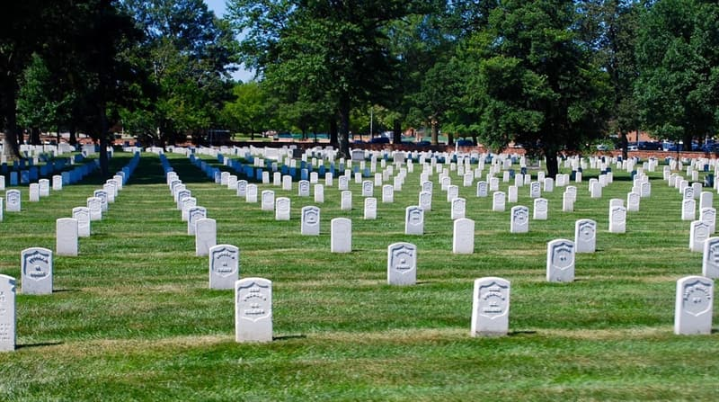 History Trivia Question: Is it true that Arlington is the only national cemetery to hold servicemen from every war in U.S. history?