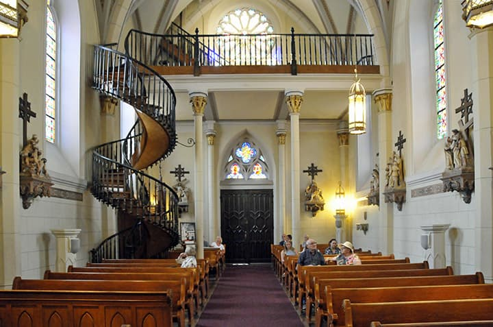 """Culture Trivia Question: In which city is the """"miraculous staircase"""" located?"""