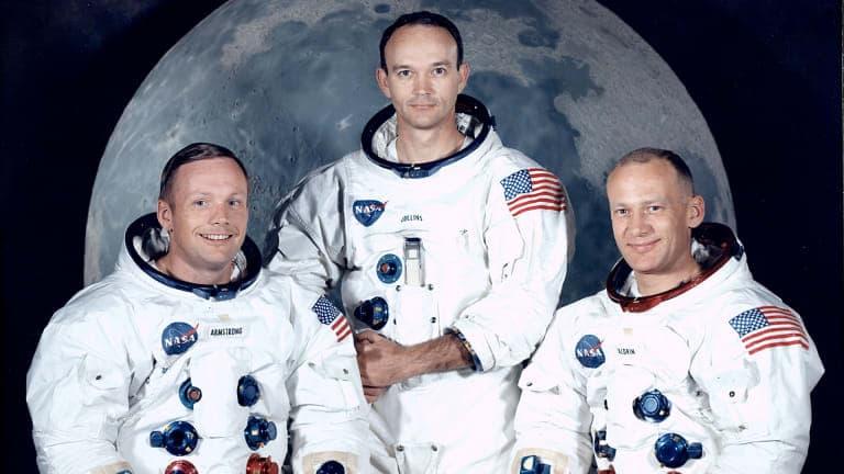 historia Pytanie-Ciekawostka: Kto wraz z Neilem Armstrongiem wszedł na Księżyc?