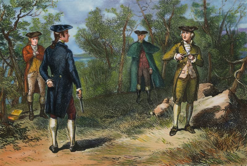 History Trivia Question: Did a well know duel between Alexander Hamilton & Aaron Burr cause the death of Hamilton?
