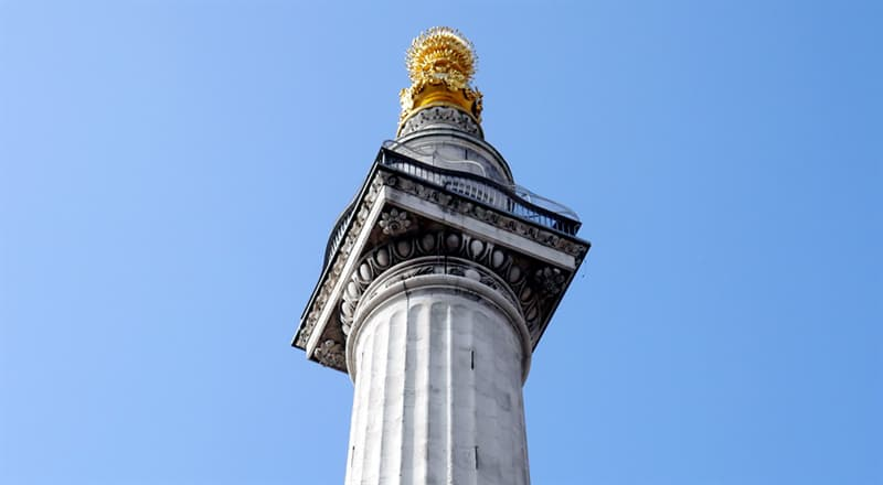History Trivia Question: The Doric column known as The Monument was erected in the City of London in the 1670s to commemorate which historic event?