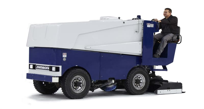 Society Trivia Question: What does a Zamboni do?