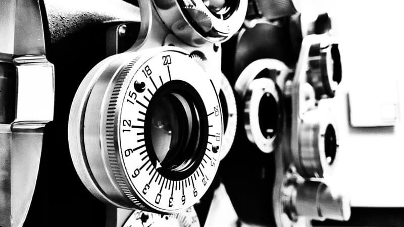 Science Trivia Question: What ophthalmic testing device is used to determine an individual's eyeglass prescription?