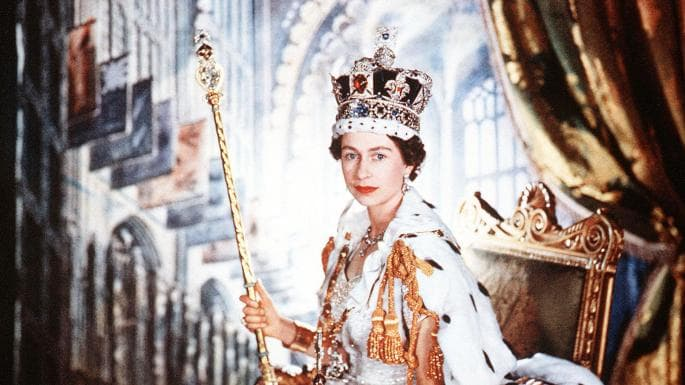History Trivia Question: What year, did the Queen of the United Kingdom, Elizabeth II, first appear live for an official event on British television?