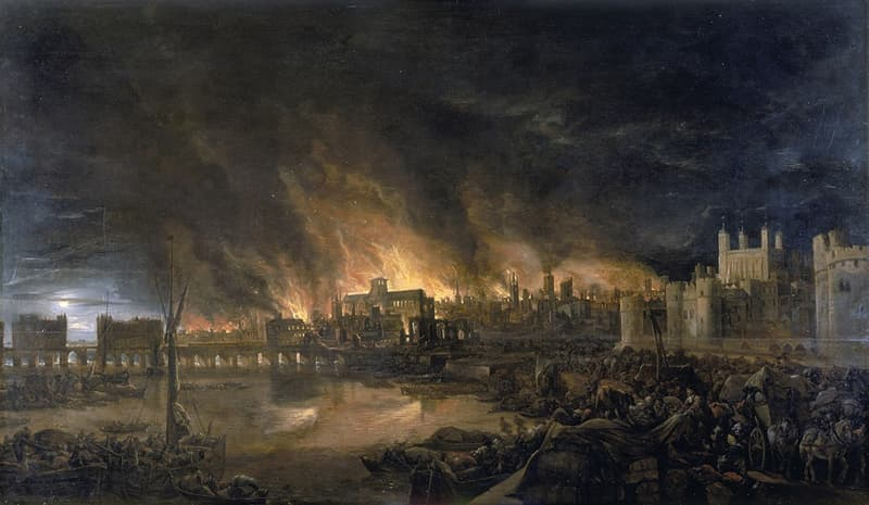 History Trivia Question: Which monarch was on the throne during the Great Fire of London?