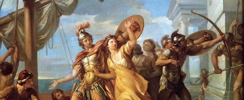 History Trivia Question: Who was Helen's husband when she was apparently abducted from Troy?