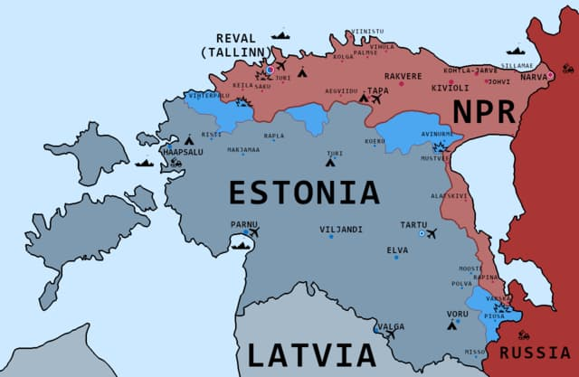 Geography Trivia Question: Estonian, the language of Estonia, is closely related to the official language of one of its neighbors. Which one is it?