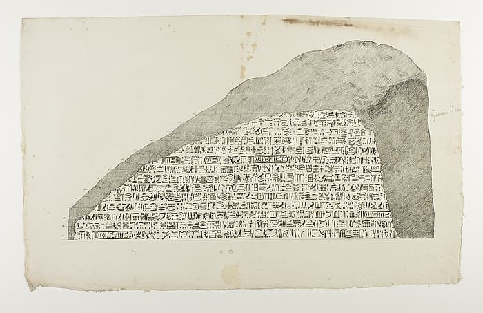 History Trivia Question: What message did the inscription on the Rosetta stone contain?