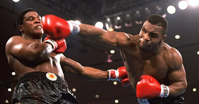 Society Trivia Question: When did Mike Tyson bite a piece of his opponent's ear?