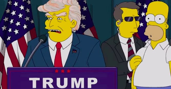 History Trivia Question: The Simpsons predicted the presidency of Donald Trump in 2000.