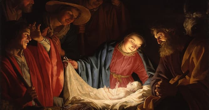 History Trivia Question: When did the first recorded Christmas celebration take place?