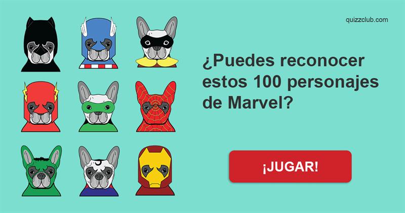 Películas y TV Quiz Test: ¿Puedes reconocer estos 100 personajes de Marvel?