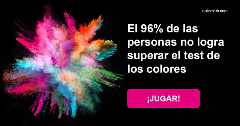 Coeficiente intelectual Quiz Test: El 96% de las personas no logra superar el test de los colores